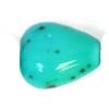 Glass Bead 10x8mm Heart Turquoise Matrix Strung